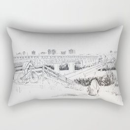 High Level Bridge, Edmonton Rectangular Pillow