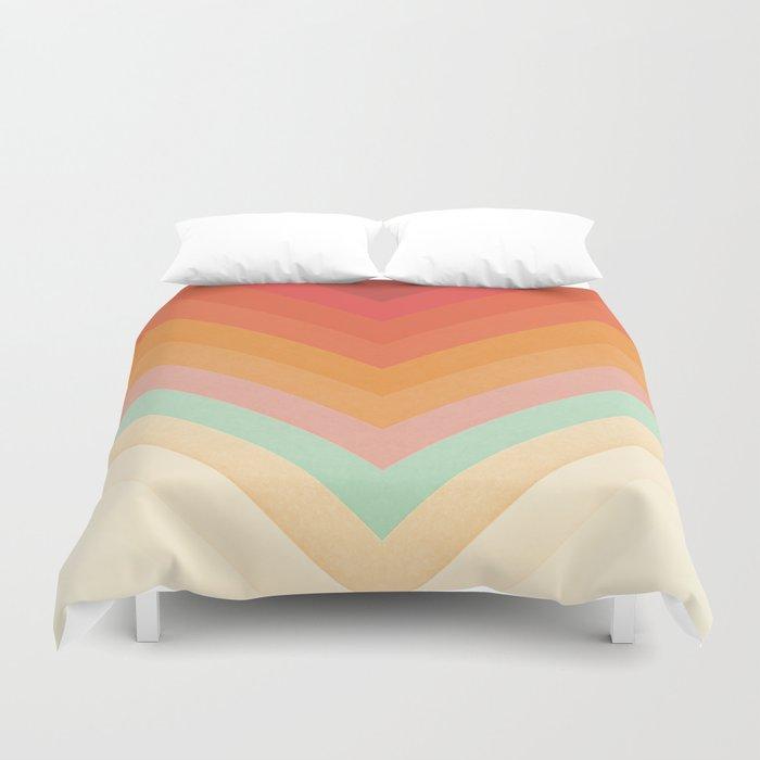 Rainbow Chevrons Duvet Cover