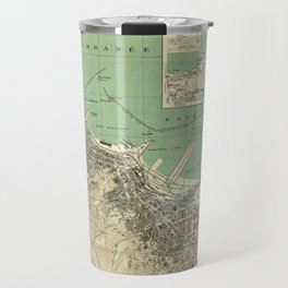 Vintage Map of Algiers Algeria (1912) Travel Mug