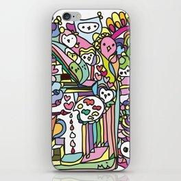 doodle owl village iPhone Skin