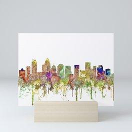 Charlotte, North Carolina Skyline SG - Faded Glory Mini Art Print