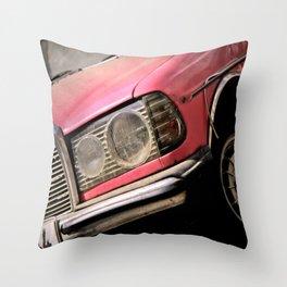 Pink Benz Throw Pillow