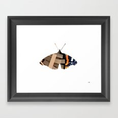 Butterfly WoodMix Collage Framed Art Print