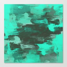 Chill Factor - Abstract cyan blue painting Canvas Print