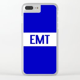 EMT: The Thin White Line Clear iPhone Case