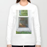 garfield Long Sleeve T-shirts featuring Garfield in the House by Cody_Van