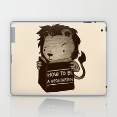Lion Book How To Be Vegetarian Laptop & iPad Skin