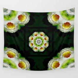 Water Lily Mandala Wall Tapestry