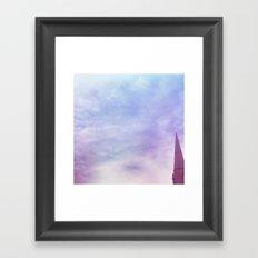 Steeple + Sky Framed Art Print