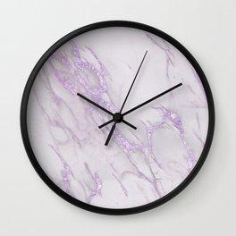 Marble Love Purple Metallic Wall Clock