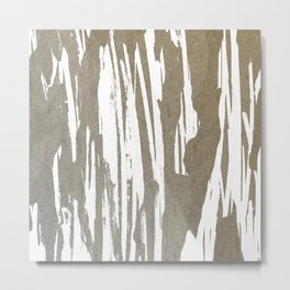 Abstract Taupe Splash Design Metal Print