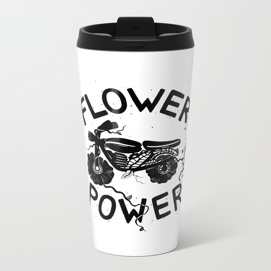 Floral Fuel Metal Travel Mug