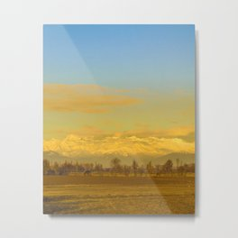 Piamonte Landscape Afternoon Scene, Italy Metal Print