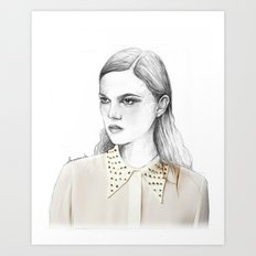 stud collar Art Print