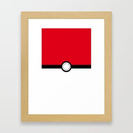 Pokeball Framed Art Print