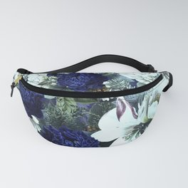 Vintage & Shabby Chic - Blue Winter Roses Fanny Pack