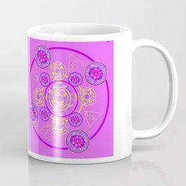 Mandala Purple and Yellow Coffee Mug