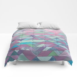 Triangle Pattern no.3 Violet Comforters