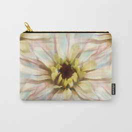 Painterly Seamless Pink Zinnia Carry-All Pouch