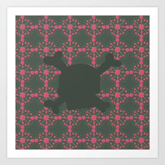 pattern with skull 2 Art Print