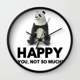 Pandas Make Me Happy Panda Lovers Wall Clock