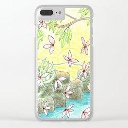 Landscape in Yellow Clear iPhone Case