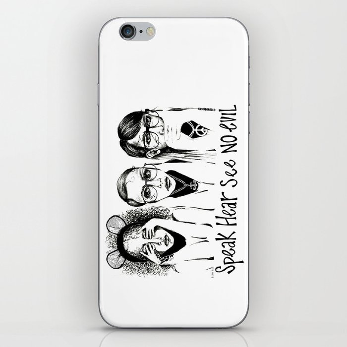 Speak, Hear, See No Evil STUK GIRLS iPhone Skin