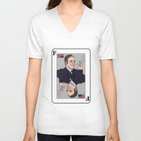house of cards V-neck T-shirts featuring Francis Underwood - House of Cards by KODYMASON