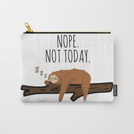 Nope. Not Today! Funny Sleeping Sloth On A Branch Gift Carry-All Pouch