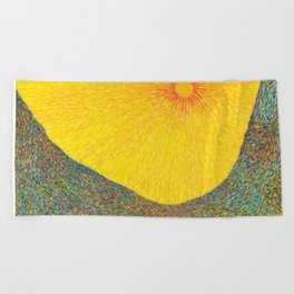 Here Comes the Sun - Van Gogh impressionist abstract Beach Towel