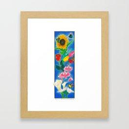 BUTTERFLWOERS Framed Art Print