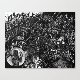 The Rocking Dead Canvas Print