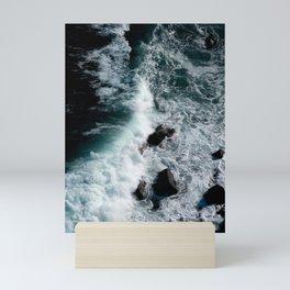 Power of wave - ocean sea landscape water blue nature sea stack Mini Art Print