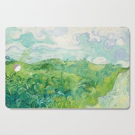 Green Wheat Fields - Auvers, by Vincent van Gogh Cutting Board