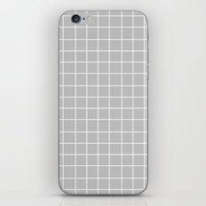 Grid (White/Silver) iPhone & iPod Skin