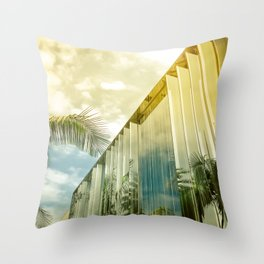 Beverly Hills - Palm Reflections II Throw Pillow