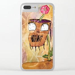 Flower Head Clear iPhone Case