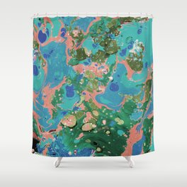 Marble texture 17 Shower Curtain