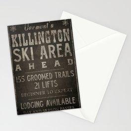 Killington Mountain Ski Area Sign Vermont Stationery Cards