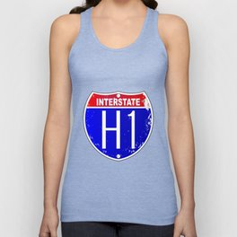 Hawaii Interstate Sign Unisex Tank Top