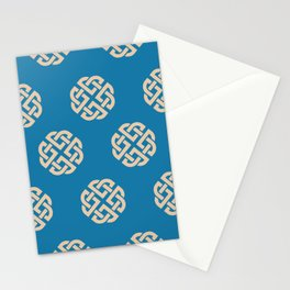 Celtic Endless Knot Symbol Blue and Sand Stationery Cards