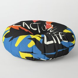Cactus of Life Graffiti Street Abstract Art Floor Pillow