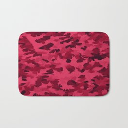 Foliage Abstract Pop Art Blush Red Bath Mat