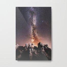 Milky Way Stars Southwestern Desert Metal Print