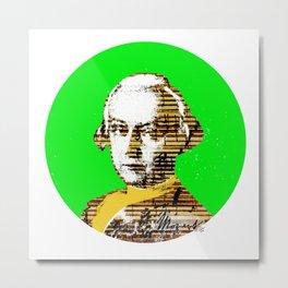Mozart Kugel Green Metal Print