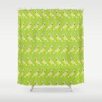 western Shower Curtains featuring Western Meadlowlark by Alysha Dawn