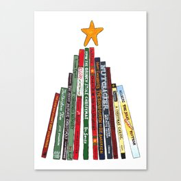 Christmas Tree Book Painting for Holidays Canvas Print