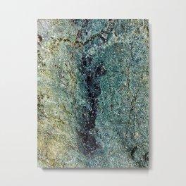 Stone Green Metal Print