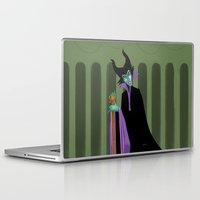 maleficent Laptop & iPad Skins featuring Maleficent by DROIDMONKEY