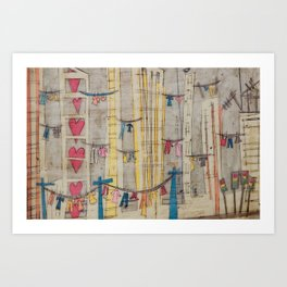 Its a good drying day  Art Print